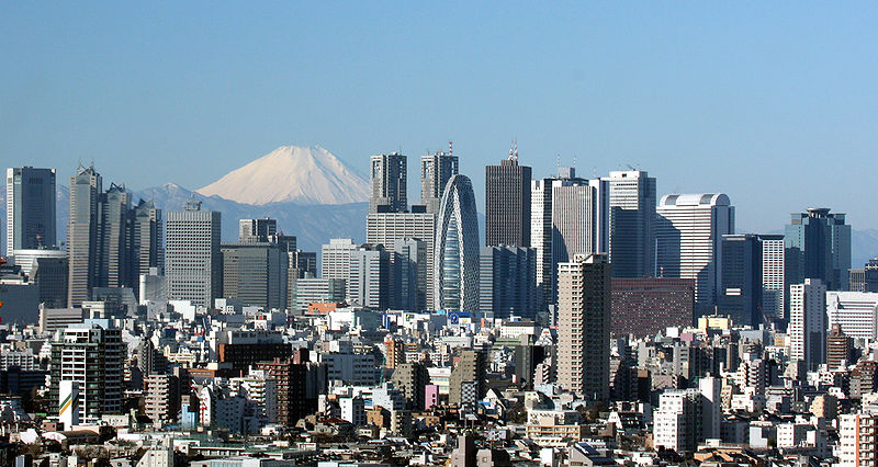 Tokyo skyline with Mt. Fuji view