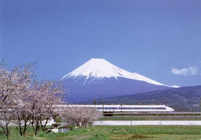 Mount Fuji view in sunny day