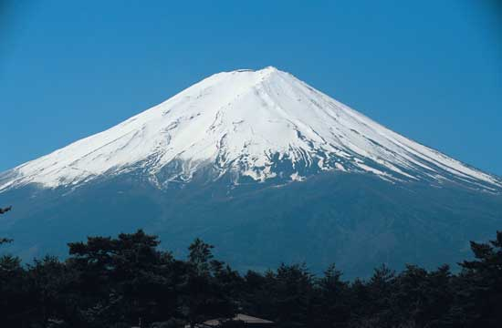 Mt Fuji with snow view