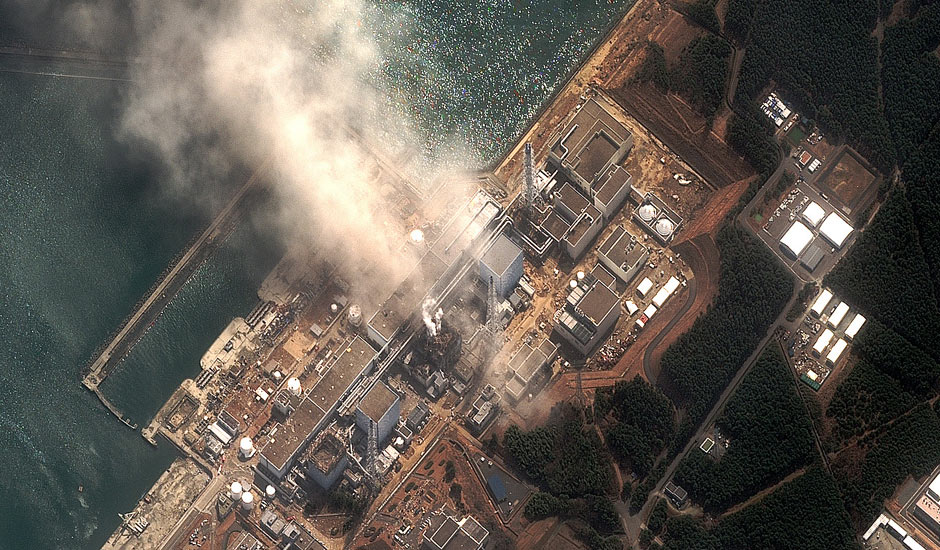 Fukushima Nuclear Plant picture taken from sky