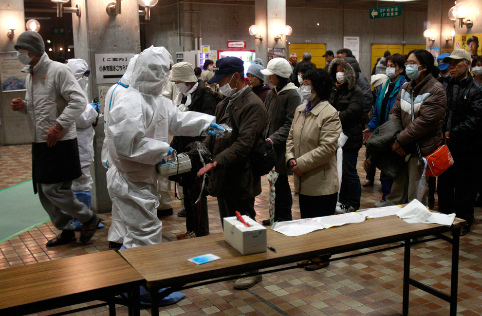 Radiation screening on evacuees people in Japan