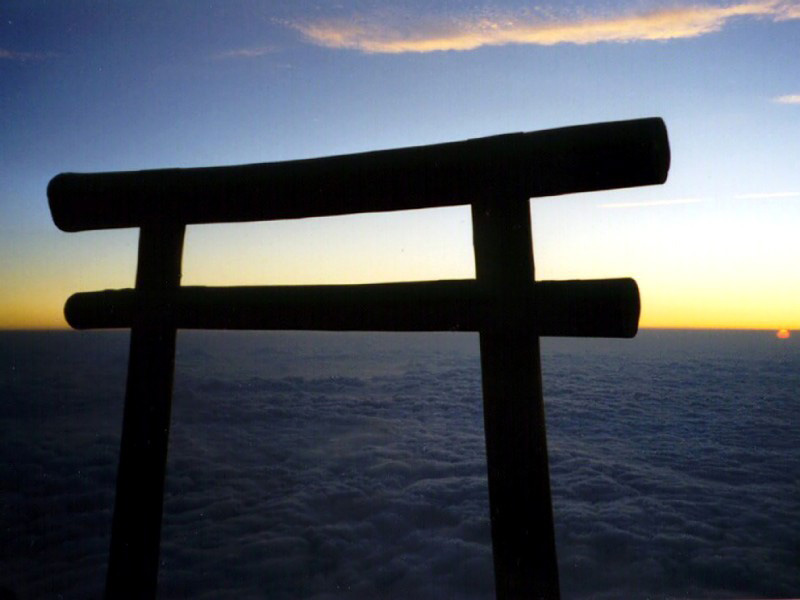 Sunrise on Mt Fuji