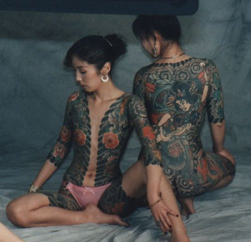 Nude Yakuza tatooed girls