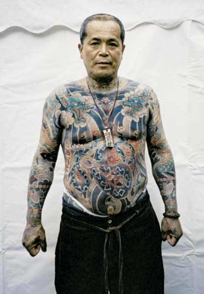 Yakuza man with tatoos