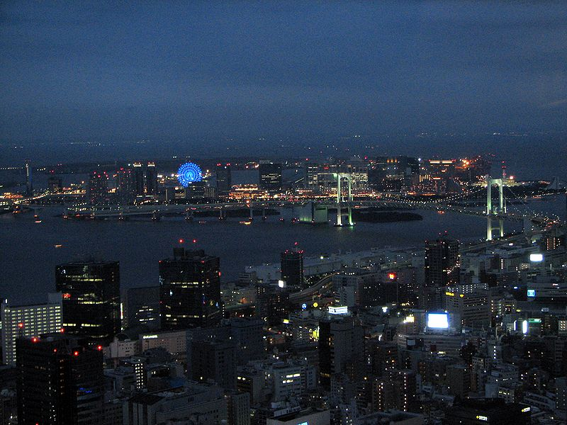Odaiba view from Tokyo Tower at night