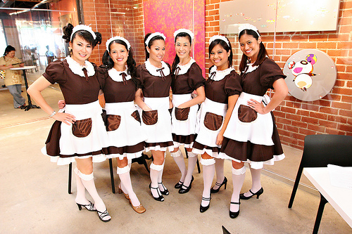 Nice Maid Cafe Girls in Tokyo