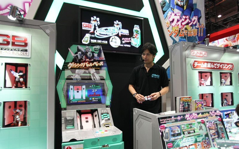 Japanese Man working at Tokyo Toy Show 2011